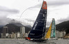 Yachts Ericsson, left, and ABN AMRO TWO,right, sail in front of Copacabana beach during the start of the leg 5 of 2005-2006 Volvo Ocean Race,  Rio de Janeiro, Brazil, April 2, 2006.  (FOTO:AUSTRAL FOTO/RENZO GOSTOLI)