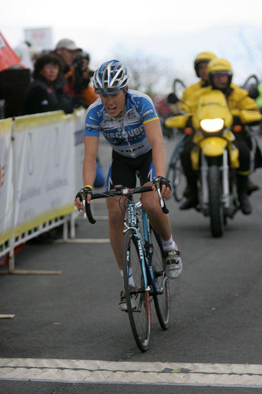 USA, Georgia, GA, Brasstown Bald, Tour de Georgia , Stage 5, Finish Line, Winner, Tom Danielson