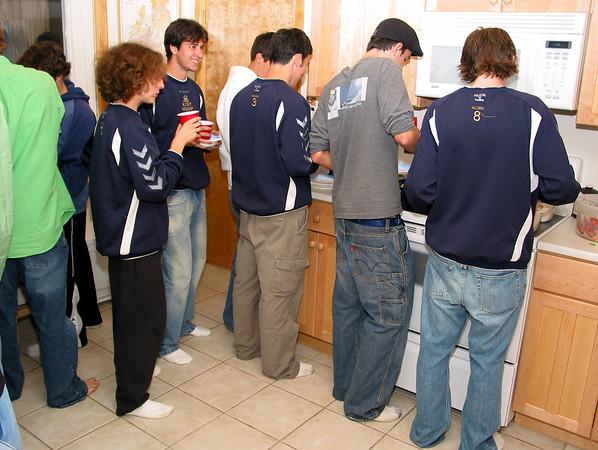 EHS soccer team dinner.