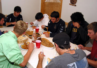 EHS soccer team dinner.