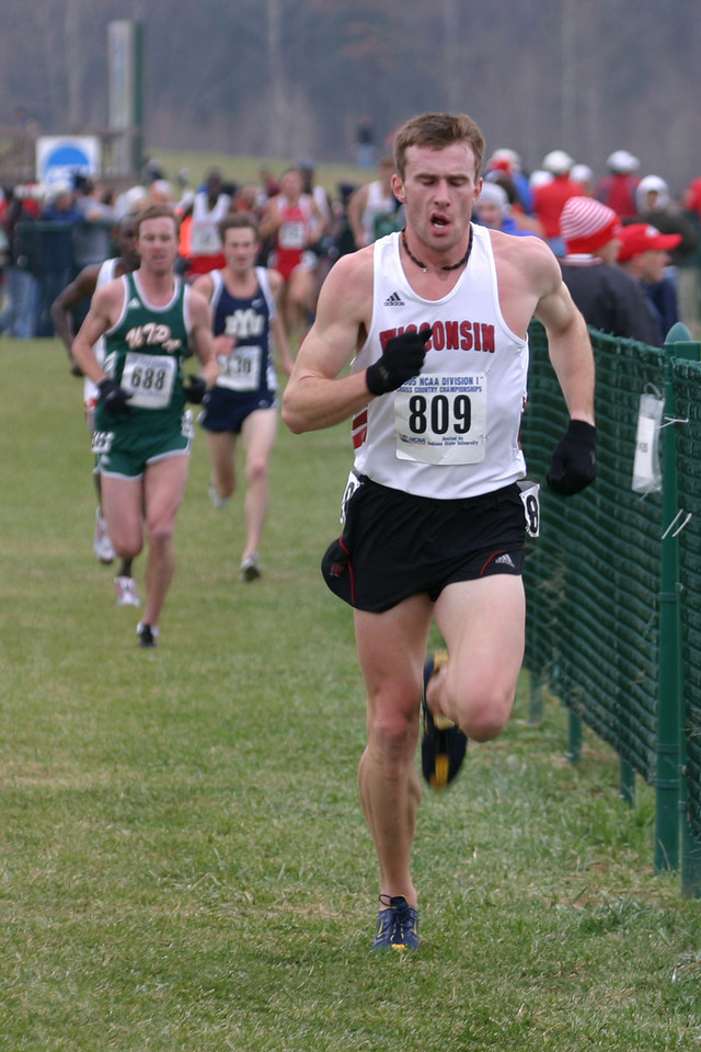 #809 Chris Solinsky, Junior from Wisconsin finished 3rd overall.