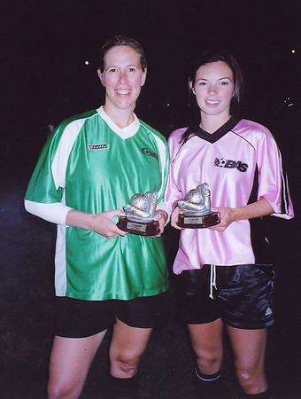 DIVISION III SCORING CHAMPIONS - Carrie Booker (MCHUGH CREW)[l], Jennifer Connolly (THE SONICS)[r] - 13 goals