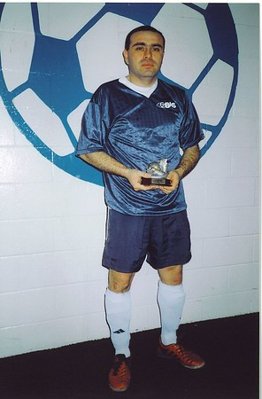 WINTER INDOOR DIVISION II SCORING CHAMPION - George Araya (UNKNOWN STRIKERS) - 25 goals