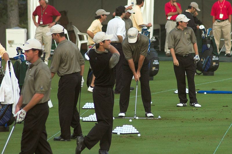 On the Range: Mark Hensby, Mike Wier, Trevor Immelman, Angel Cabrera, Tim Clark