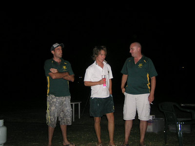 2006/07 Most Valuable Player  Vote Count Night 3/3/2007 Shane Kelly congratulates joint winners of the 1st XI MVP award Mark Purcell & Brett Gatehouse