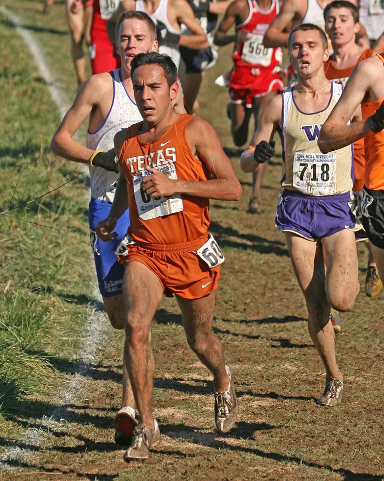 Justin Kunz, Indiana State (behind Texas runner)