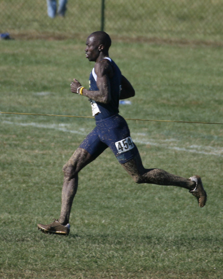 Joseph Lomong, Northern Arizona with 200 meters to go.  5th place at 200 meters to go, but outkicked Martin Fagen to finish 4th overall.