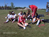 Members of BAS FIREBALL prepare for 2006 Kicks For Cancer competition - Malina Husseini (foreground)