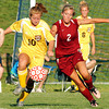 Globe/T. Rob Brown<br /> Joplin High School Lindsay Altman (2) competes with Kickapoo's Afton Weimer (10) for control of the ball during Friday night's MSHSAA District 12 Girls Soccer Tournament final game, May 19, 2006, at Joplin.<br /> Section: Sports