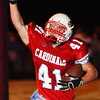 Globe/T. Rob Brown<br /> Webb City's Jake Cockrell (41) reacts after scoring a touchdown against Carthage during Wednesday night's game, Nov. 8, 2006, at Webb City.<br /> Section: Sports