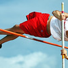 Globe/T. Rob Brown<br /> Carl Junction High School senior Austin Conley competes in the pole vault Monday afternoon, May 8, 2006, during the Big 8 Conference track meet at Carl Junction.
