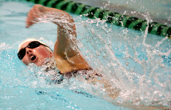 Globe/T. Rob Brown<br /> Joplin's Kali Rountree competes in the 500 freestyle Tuesday evening, May 2, 2006, at Missouri Southern State University.<br /> Section: Sports