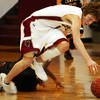 Globe/T. Rob Brown<br /> Joplin's Taylor Macfee (11) runs after a loose ball against Central during Tuesday night's game, Jan. 3, 2006, at Joplin High School.<br /> Section: Sports