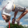 Globe/T. Rob Brown<br /> Joplin High School junior Taylor Mcfee practices the high jump after school Thursday, May 11, 2006, at Junge Field.<br /> Section: Sports