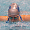 Globe/T. Rob Brown<br /> Carthage's Virginia Wiley competes in the 100-meter butterfly during Friday afternoon's swim meet at Missouri Southern State University, Dec. 15, 2006.<br /> Section: Sports