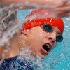 Globe/T. Rob Brown<br /> Kristina Duley of Webb City performs in the 100-meter freestyle during Friday afternoon's swim meet at Missouri Southern State University, Dec. 15, 2006.<br /> Section: Sports
