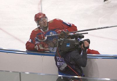 russia v czech.... no punches were pulled.
