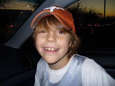 2006.01.28 Ryan at the Mavs Game