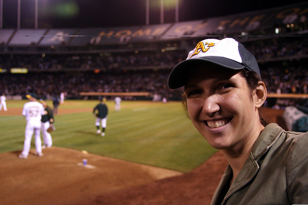 A. Malvino in an A's hat.  Awesome.