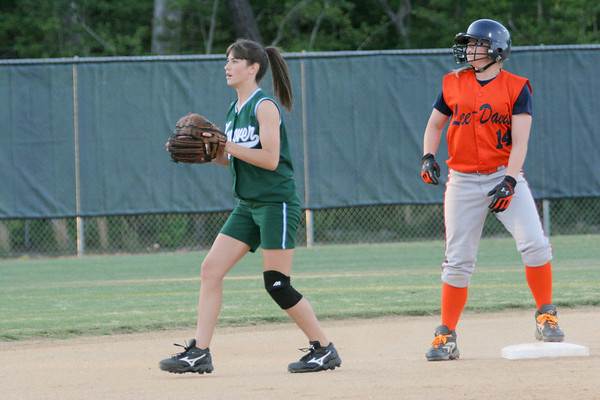 IMG_66494Lee-Davis shortstop Chelsea Mitchell & Hanover 2B Lauren Brummell