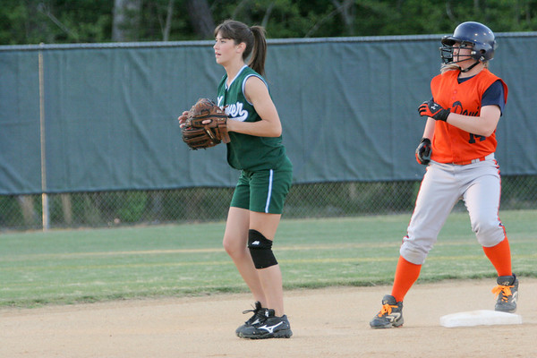 IMG_66493Lee-Davis shortstop Chelsea Mitchell & Hanover 2B Lauren Brummell
