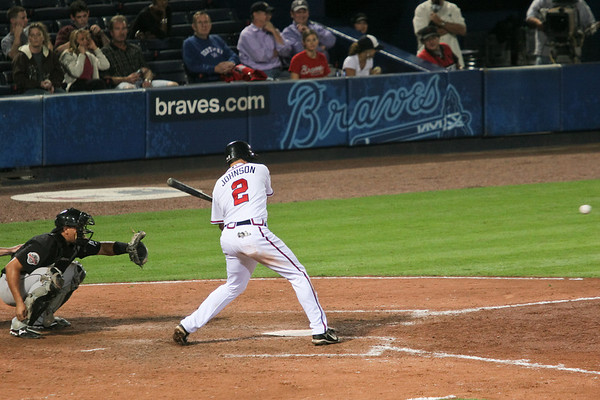 2B Kelly Johnson had 2 hits in 4 at bats, in addition to getting on base for being hit by a pitch.  He scored 3 runs for the Braves.