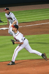 Braves Pitcher John Smoltz on his way to win number 14.