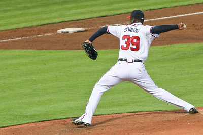 Pitcher Rafael Soriano finished out the night for the Braves.