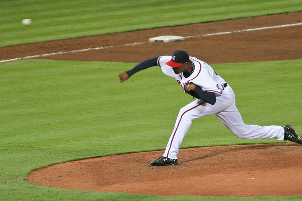 Pitcher Manny Acosta came in to relieve a struggling Jose Ascanio.