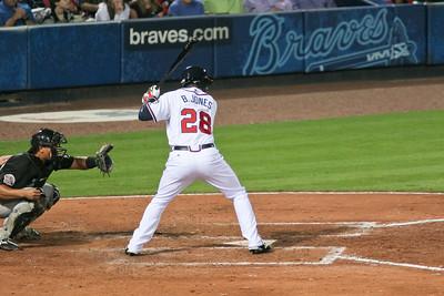 CF Brandon Jones at bat.