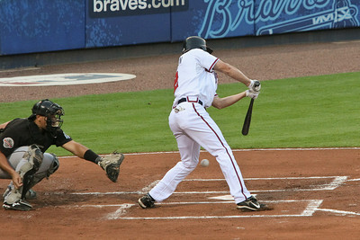 Kelly Johnson is hit by a pitch from Byung-Hyun Kim.