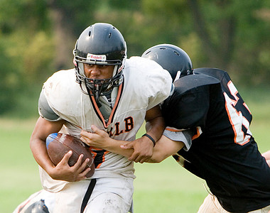DeKalb High School football practice 8/16/07 Mandel Williams, junior