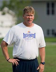 Copyright 2007 CURTIS CLEGG GK High school football practice 8-16-07 Head Coach Bill McCarty