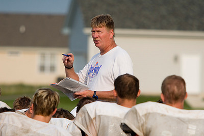 Copyright 2007 CURTIS CLEGG GK High school football practice 8-16-07 Head Coach Bill McCarty, post-practice