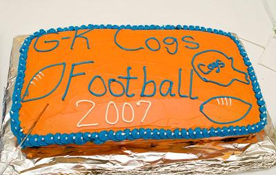 GK Football banquet team cake