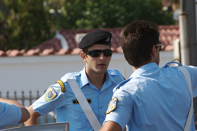 Local Rhodes police officers.