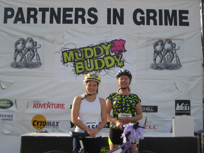 Here are the partners in grime! Lisa and Dona aka: MUDDY BUDDIES!