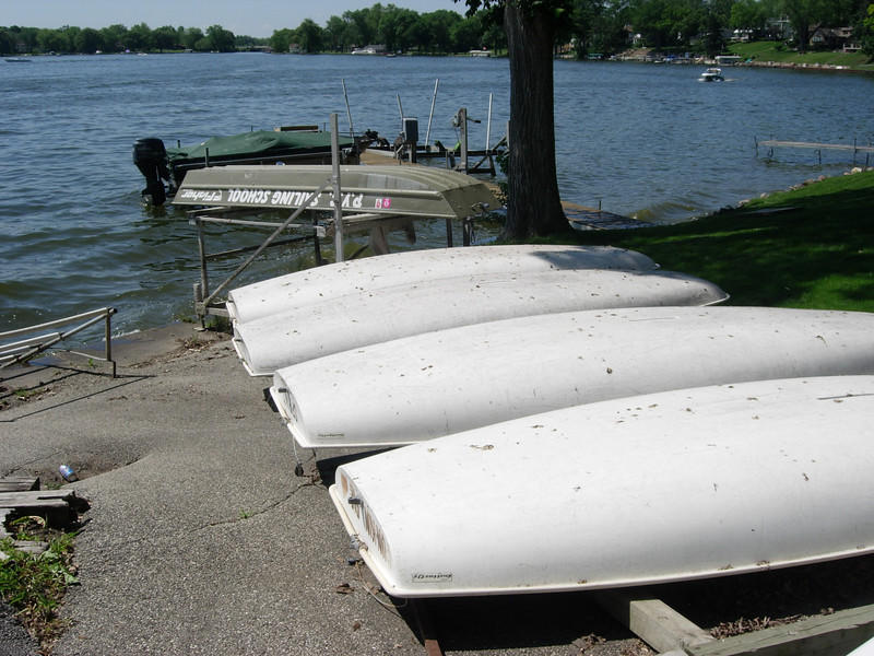 The small boats used by the PYC Sailing School.