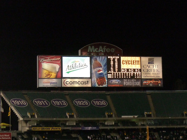 The Cycle...on our ghetto scoreboard.