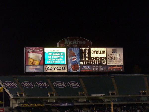 I love our scoreboard.