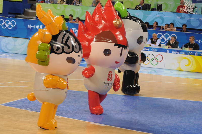 3 of the 5 mascots of the games