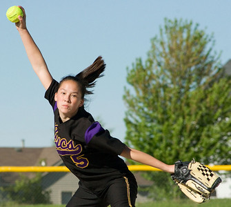 Belvidere High School senior pitcher Kyra Tschumper