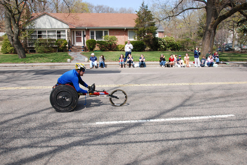 Wheelchairs are the first to come through.