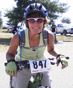 Sherry's first mtb race!