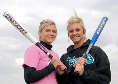 2008 - GK Softball - Miller sisters 4-29