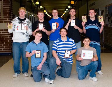 GKHS varsity wrestling award winners.