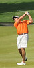 Lucas Armststrong hits on the ninth hole Monday at the Country Club of Bristol. Photo by David Grace