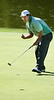 Scott Obenshain of Glenvar pumps his fist after sinking a putt at the eigth hole. Photo by Erica Yoon
