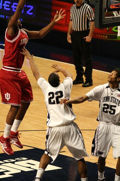 March 9, 2008  Penn St vs. Indiana NCAA Men's basketball<br /> DJ White shots a jump shot