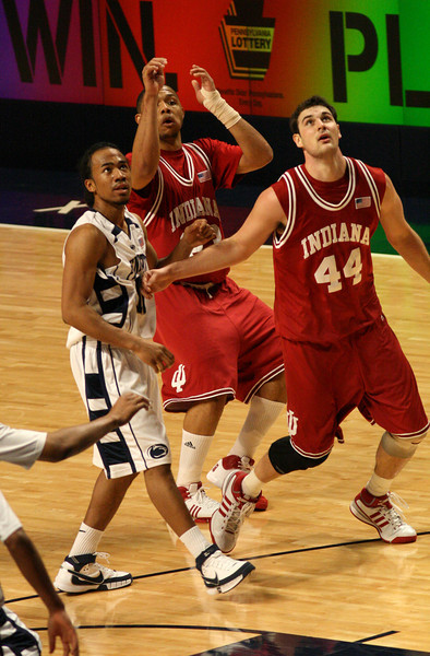 March 9, 2008  Penn St vs. Indiana NCAA Men's basketball<br /> Eric Gordon and Kyle Taber